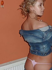 Picture collection of an amateur hot-assed sexy non-nude girlfriend