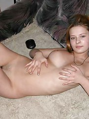 Picture collection of an amateur horny naked cutie tease