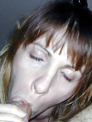 Picture collection of amateur naughty babes sucking on stiff dicks